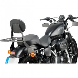 CUSTOM ACCES Detachable Sissybar, plain steel, black, Sportster 04-19