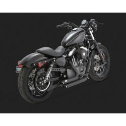 VANCE & HINES Shortshots Staggered negre pentru Harley Davidson Sportster 2004-2013