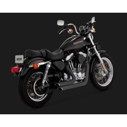 VANCE & HINES Shortshots Staggered negre pentru Harley Davidson Sportster 1999-2003