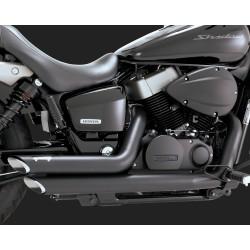 VANCE & HINES Shortshots Staggered negre pentru Honda Shadow VT750