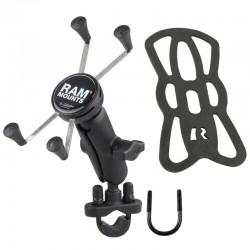 "RAM MOUNTS X-Grip® Suport telefon mare cu prindere tip ""U-Bolt"" pentru ghidoane 0.5"" - 1.25"""