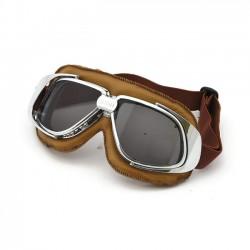 BANDIT Classic Leather Ochelari Moto de culoare Maro