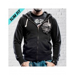 HOLY FREEDOM Black Sweatshirt Fullzip