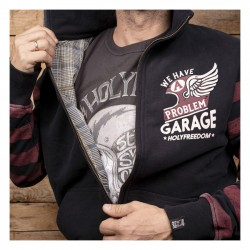 HOLY FREEDOM Wine Sweatshirt Fullzip