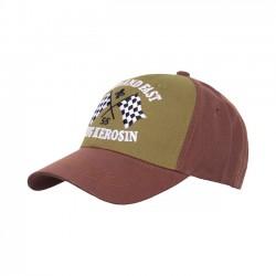 KING KEROSIN Baseball Cap Loud And Fast Brown/Olive