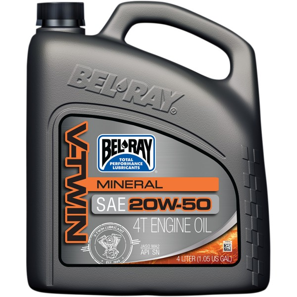 BEL-RAY V-Twin Mineral Engine Oil 20W-50