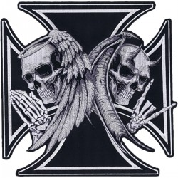 LETHAL THREAT Angel and Devil Iron Cross