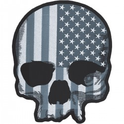 LETHAL THREAT Mini USA Skull Flag